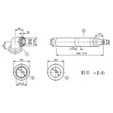 AZB 916  Vodorovný odťah 60/100 mm