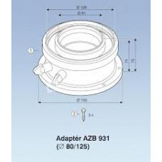 AZB 931 Pripojovací Adaptér 80/125 mm