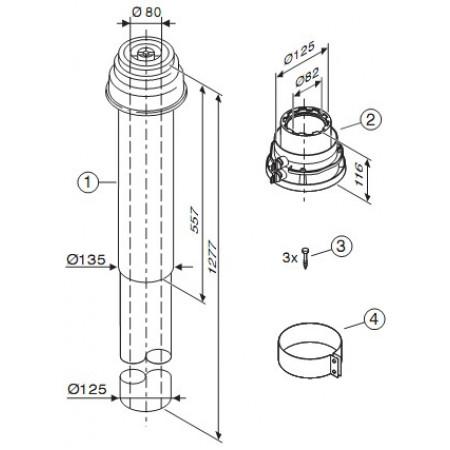 AZB 933  Zvislý odťah 80/125 mm